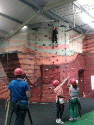 Indoor climbing at Castle Quarry